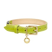 Cheshire & Wain - Leather Green Cat Collar