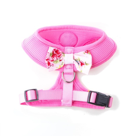 Pink Vintage Bow Dog Harness