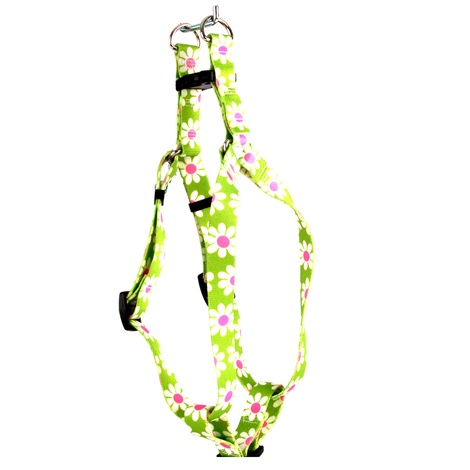 Green Daisy Step-In Dog Harness