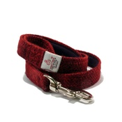 My McDawg - Red Check Harris Tweed Dog Lead