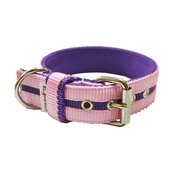 El Perro - Candy Strip Collar - Purple & Baby Pink