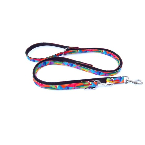 K9CREW Rainbow Adjustable Lead (Rainbow)
