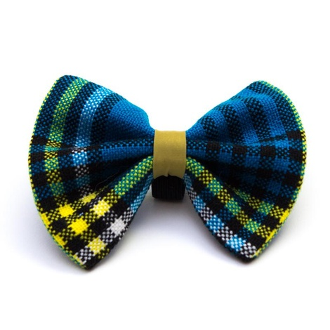 Shuka Blue Dog Bow Tie