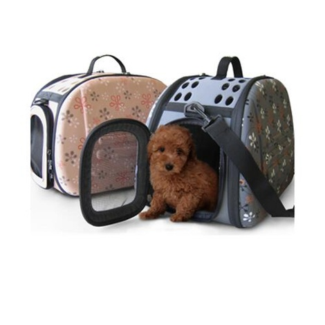 Toscane Shoulder Bag Pet Carrier (Beige)