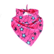 Pet Pooch Boutique - Pink & Blue Star African Bandana