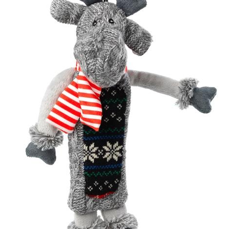 Silent Night Squeaker/ Stuffing Free Reindeer