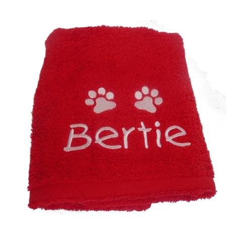 Personalised Santa Paws Pet Towel