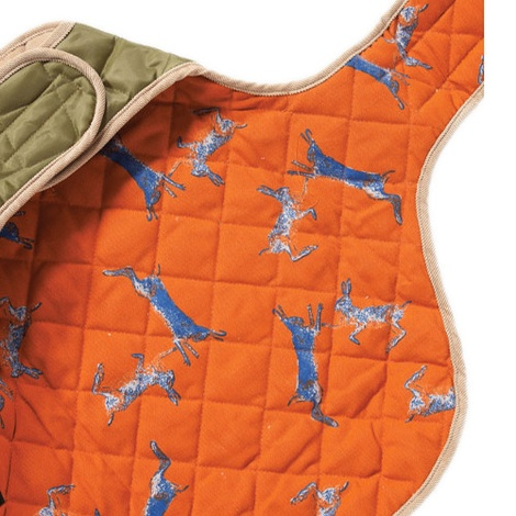 Quilted Dog Coat - Forest Green 4