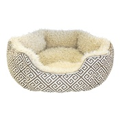Happy Pet - Kempton Oval Bed - Grey & Cream