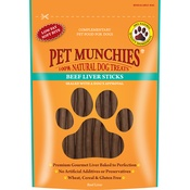 Pet Munchies - 3 x Beef Liver Sticks 90g