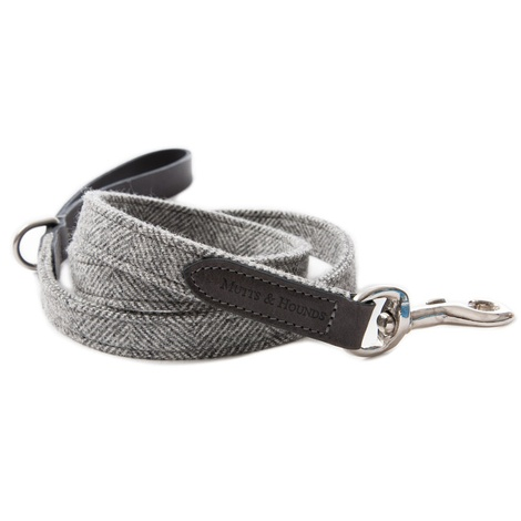 Stoneham Grey Tweed Dog Lead