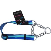Hem & Boo - Paw Stripes Training Dog Collar - Blue