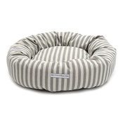 Mutts & Hounds - Flint Stripe Brushed Cotton Donut Dog Bed