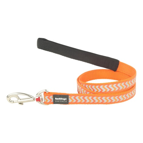 Ziggy Reflective Dog Lead – Orange