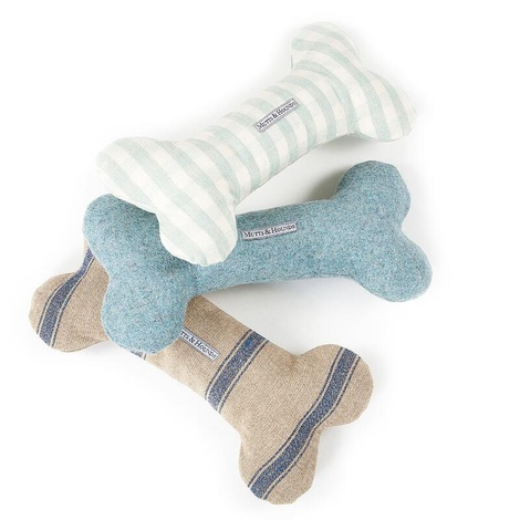 Mint Check Squeaky Bone Toy 2