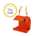 Bauhaus Bird Feeder - Orange 2