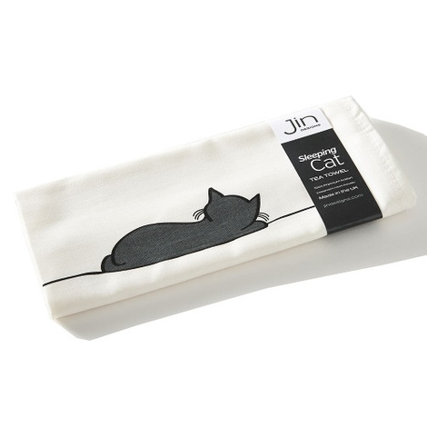 Sleeping Cat Tea Towel 2