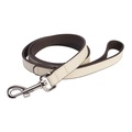 DO&G Leather Dog Lead - White