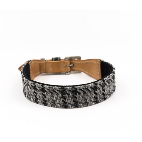 Tweed & Leather Dog Collar - Henley 3