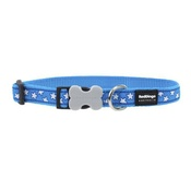 Red Dingo - Red Dingo Patterned Dog Collar - Turquoise/White Stars