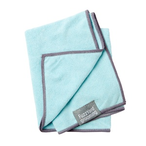 Microfibre Drying Towel for Puppies - Blue and Grey