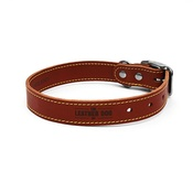 The Leather Dog Co - Tan Brown Leather Dog Collar