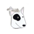 Bull Terrier Engraved ID Tag – White