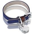 Scottish Waxed Cotton Dog Collar - Navy Blue