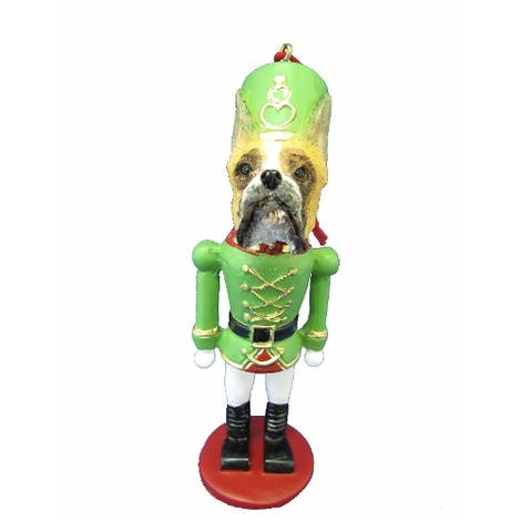 Cropped Boxer Nutcracker Soldier Ornament