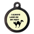 I Always Land on My Feet Cat Tag