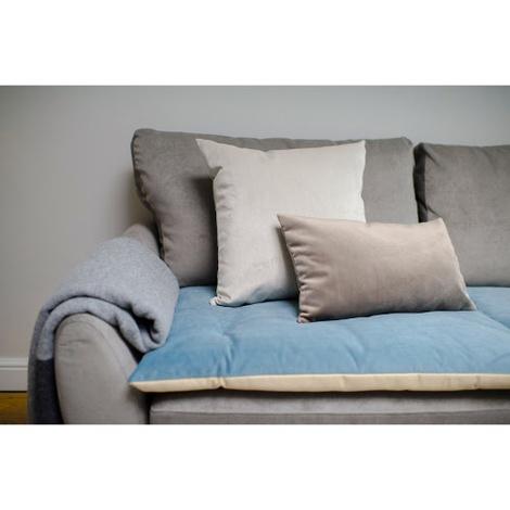 Plush Velvet Sofa Topper - Airforce Blue 2