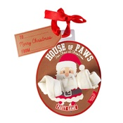 House of Paws - Santa Rawhide Bone Christmas Bauble