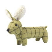 House of Paws - Green Tweed Long Hare Dog Toy