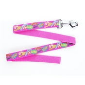 "Pet Pooch Boutique - Pow! Cartoon Lead - Pink 1"" Width"