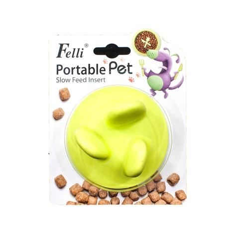 FelliPet Pebble Slow-Feeder Insert for Bowls – Lime 2