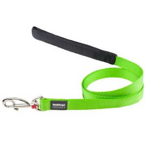 Red Dingo Plain Dog Lead - Lime Green
