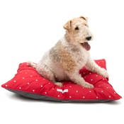 Mutts & Hounds - Cranberry Star Cotton Pillow Bed