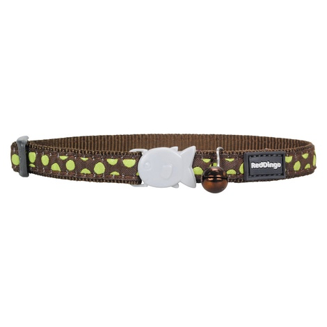 Green Spots on Brown Cat Collar