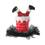House of Paws - Santa Down the Chimney Hat Hair Clip