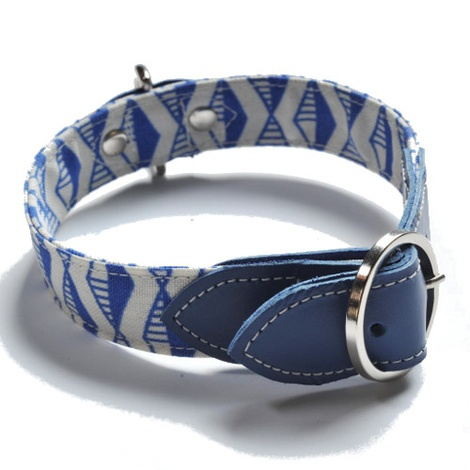 Blue Geo Dog Collar 5