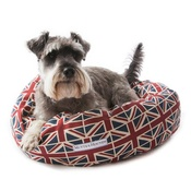 Mutts & Hounds - Union Jack Linen Donut Bed