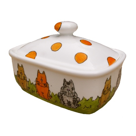 Cats Butterdish