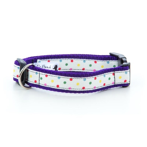 "Multi Dot Dog Collar - Purple 1"" Width"