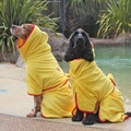 Microfibre Dog Dressing Gown - Yellow 2