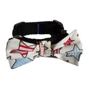 "Pet Pooch Boutique - Star Gaze Bowtie Dog Collar 1"" Width"
