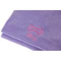 Personalised Lilac Bone Dog Blanket - Italic Font 2