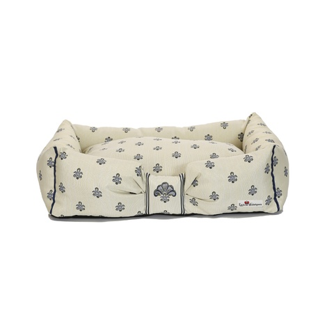 Cantatis Dog Bed - Ivory & Inky Blue 2