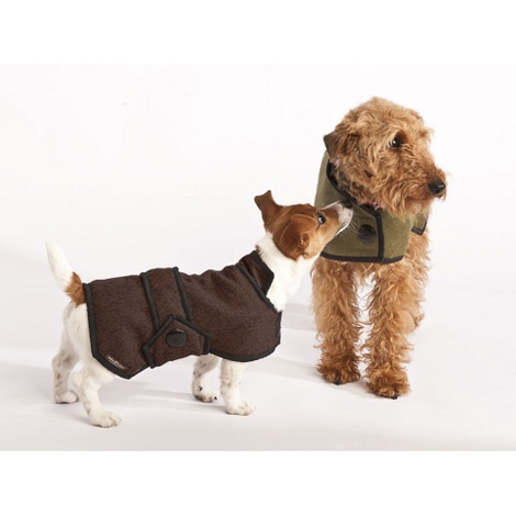 Brown Wool Blazer Dog Coat 4