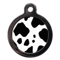 Cow Print Pet ID Tag