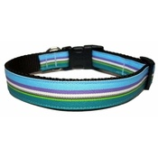 Woof and Meow - Ocean Stripe Dog Collar